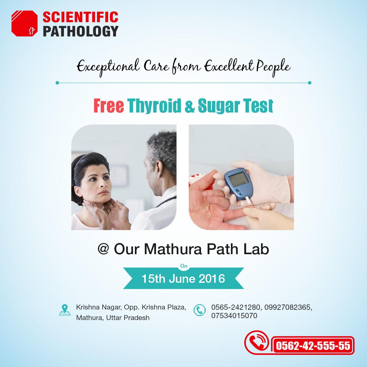 Free Thyroid & Sugar test Camp @ Mathura Lab
